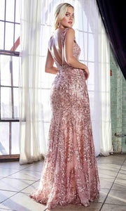 Cinderella Divine - HT062 Fitted Lace Gown In Pink