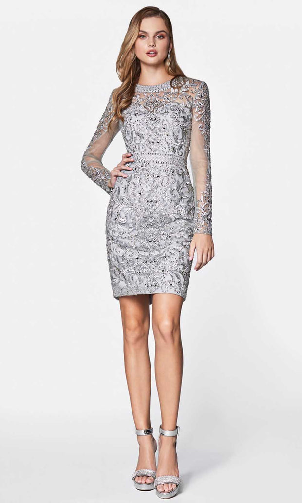 Cinderella Divine - J776 Beaded Short Dress