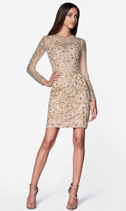 Cinderella Divine - J776 Beaded Short Dress In Gold