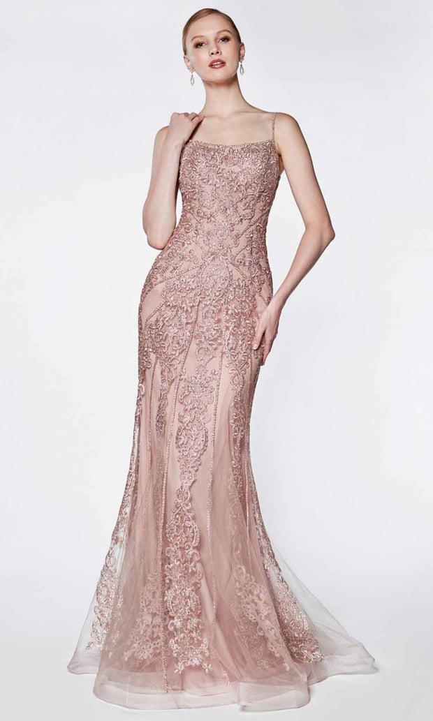 Cinderella Divine - KC885 Lace Mermaid Gown In Pink