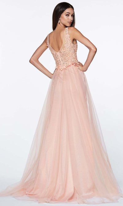 Cinderella Divine - KV1040 Jeweled Lace Gown In Pink