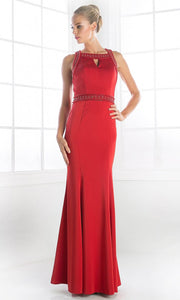 Cinderella Divine - P108 Beaded Sateen Dress In Red