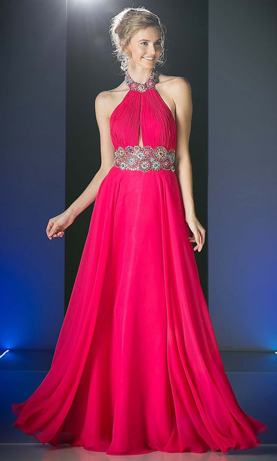 Cinderella Divine - PC905 High Halter Open Back Dress In Pink