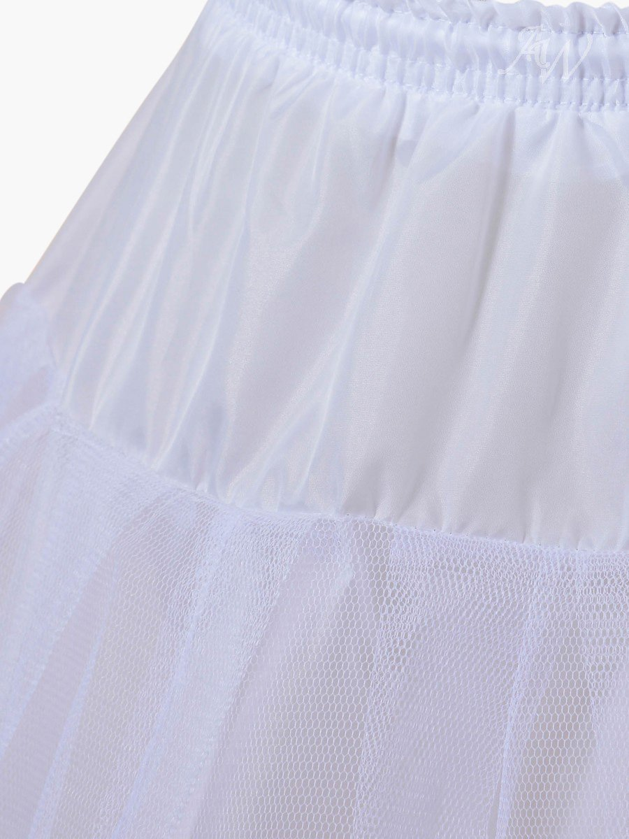 Close up of petticoat or hula hoop skirt. This large skirt is worn under a ballgown to make the gown bigger or puffier. It is one size fits all and is perfect for your wedding ballgown, quinceanera ballgown, engagement ballgown.Skirt to make dress bigger