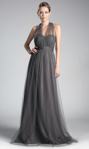 Cinderella Divine - ET322 Convertible Sweetheart Dress In Gray