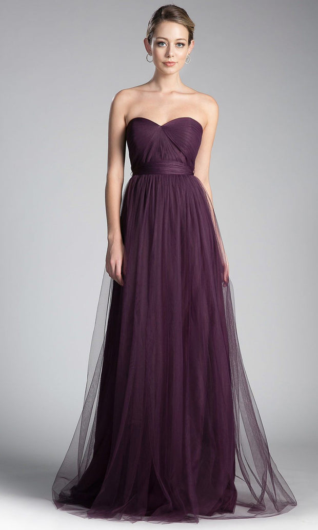 Cinderella Divine - ET322 Convertible Sweetheart Dress In Purple
