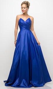 Cinderella Divine - UE008 Sweetheart A-Line Gown In Blue