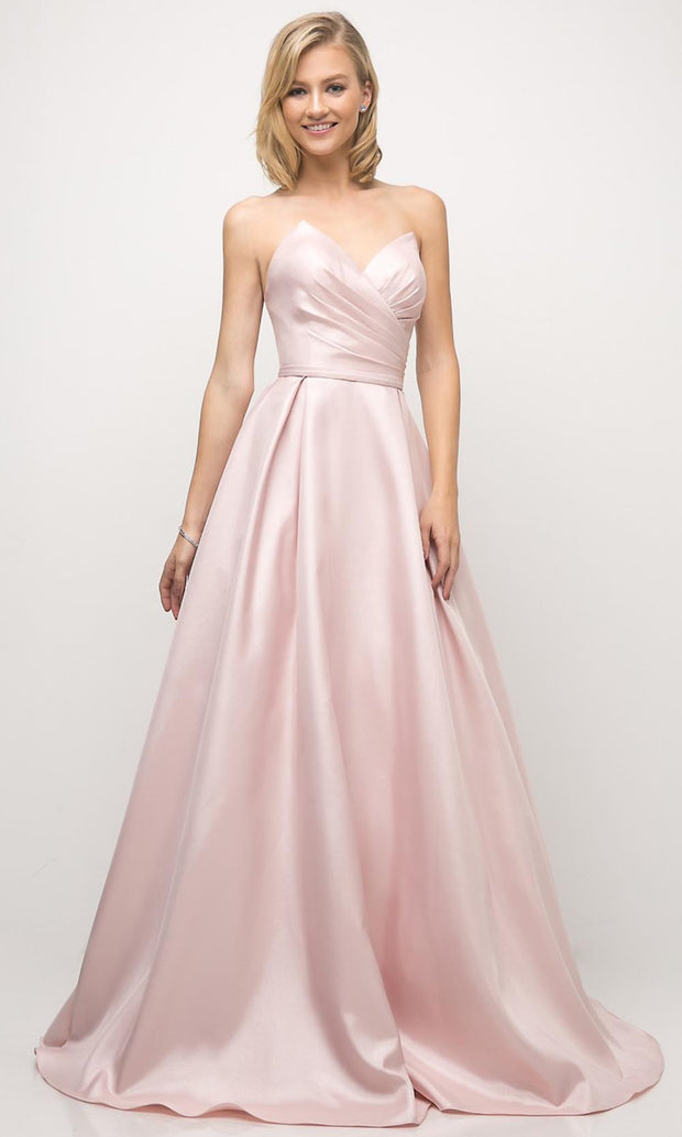 Cinderella Divine - UE008 Sweetheart A-Line Gown In Pink