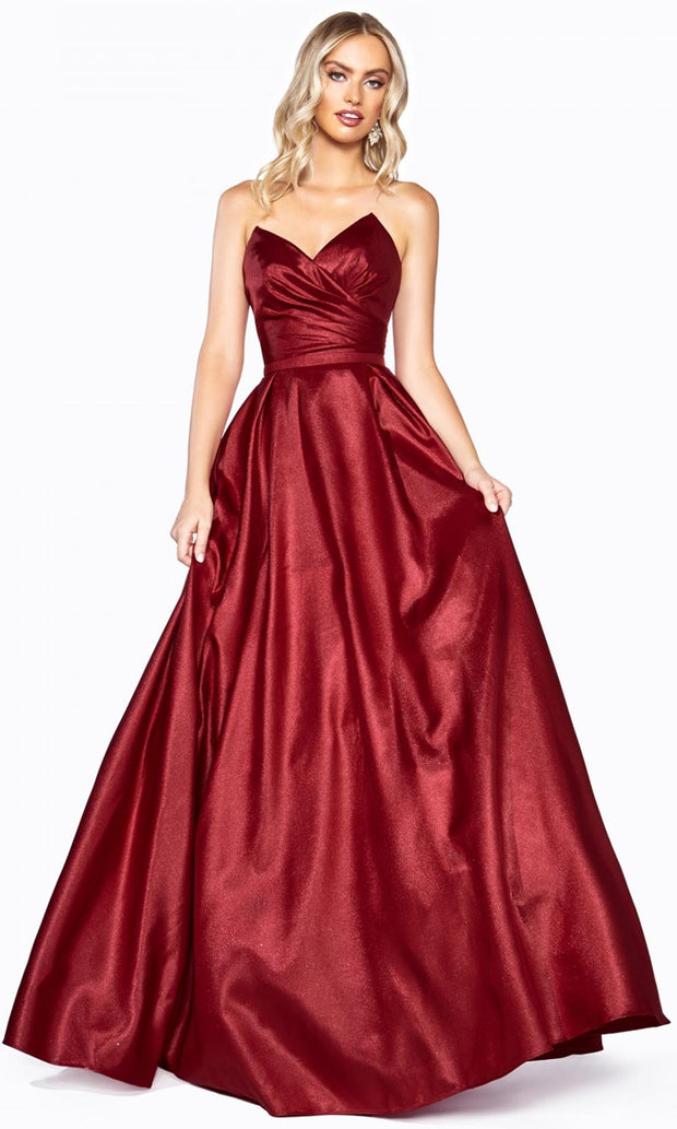 Cinderella Divine - UE008 Sweetheart A-Line Gown In Red and Black