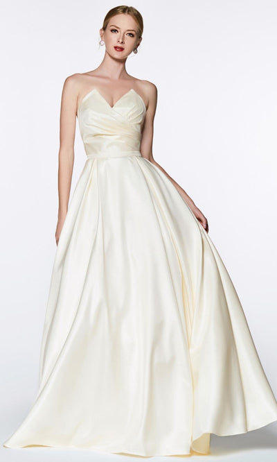 Cinderella Divine - UE008 Sweetheart A-Line Gown In White