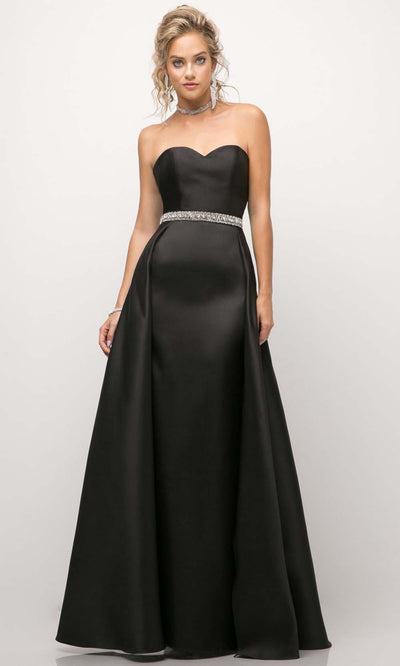 Cinderella Divine - UT253 Sweetheart A-Line Gown In Black