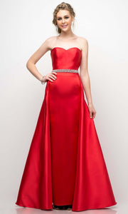 Cinderella Divine - UT253 Sweetheart A-Line Gown In Red