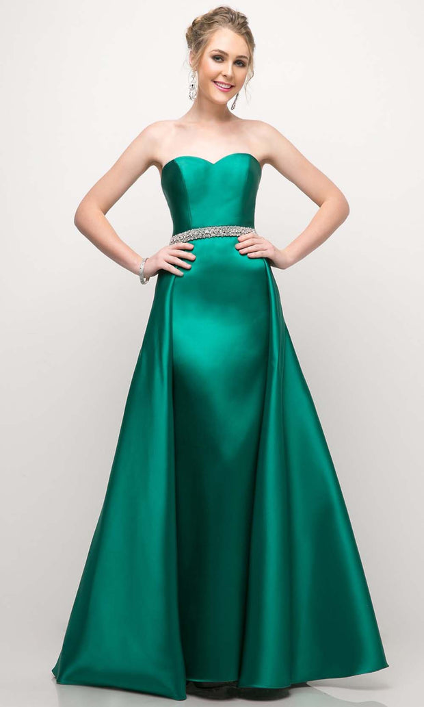 Cinderella Divine - UT253 Sweetheart A-Line Gown In Green