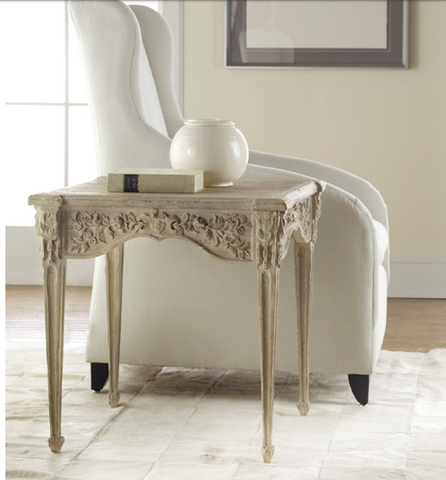 Carved End Table/ Modern History - $1,790.00