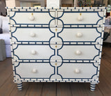 Islamorada Chest in Vanilla Bean with Blueberry Crisp Accent - Retail $4,128.00