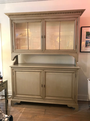 Jekyll Island Cupboard in Truffle with Vanilla Bean Interior - Retail $8,250.00