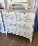 Avon Large Decorated Chest in Vanilla Bean with Truffle Accent - Retail $4,224.00