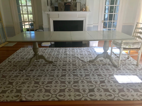 Cohasset Dining Table in Powdered Sugar - Retail $7,542.00