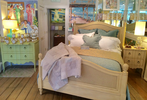 Frenchtown Queen Bed in Vanilla Bean- Retail $6,696.00