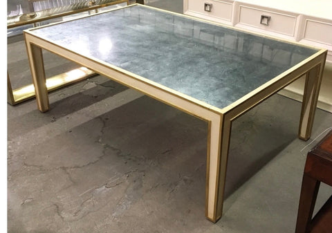 Mirrored Cocktail in Cream with Gold Accent, Modern History -Retail  $2,385.00