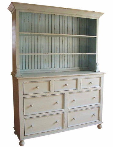 Display Hutch in antique white- Retail $4200