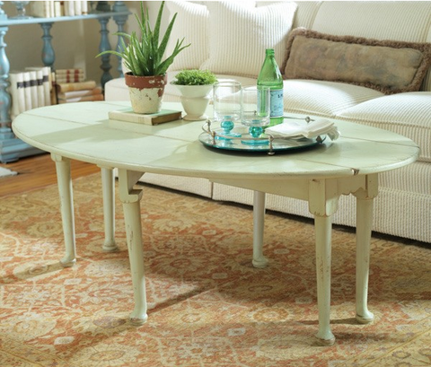 Largo Cocktail Table in Creme Brulee - Retail $3,084.00
