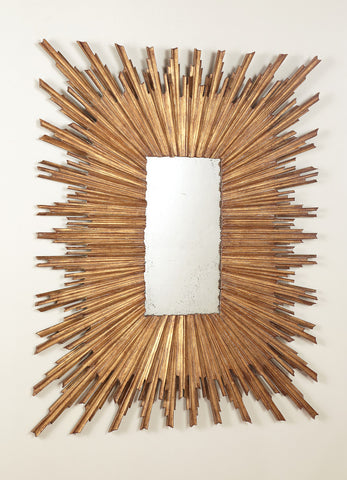 Italian Looking Glass in Gold Leaf  Modern History Mirror  - Retail $2,094.00