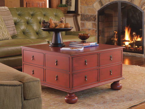 Newbury Cocktail Table in Cherry Cobbler - Retail $2,502.00