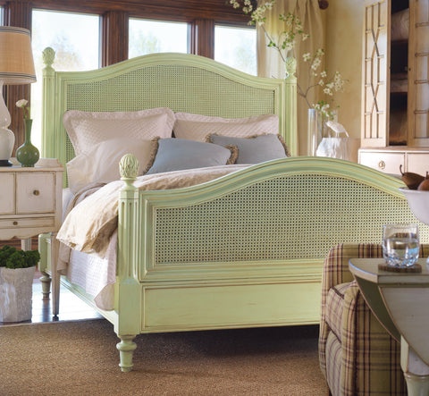 Pair of Frenchtown Twin Beds in Truffle Grey- Retail $11,280.00