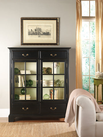 Hatteras China Cabinet in Vanilla Bean with a Vanilla Bean Interior - Retail $5,484.00