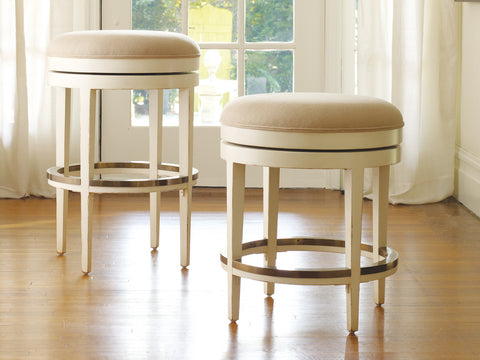 Carmel Swivel Backless Counter Stool in Vanilla Bean - $1,758.00
