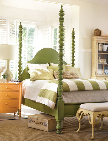 Catalina Poster Twin Bed in Jelly Bean Green - Retail $6,240.00