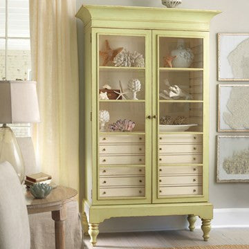 Camden Display Case in Key Lime Pie with Vanilla Bean Interior - Retail $7,775.00