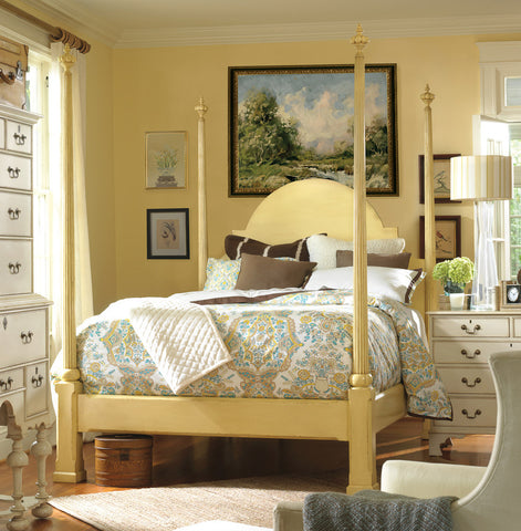Cape Porpoise Queen Bed in Vanilla Bean Retail $6,798.00