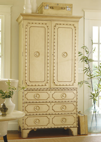 Big Coppitt Key Linen Press in Butter Pecan with Green Accent - Retail $8,142.00