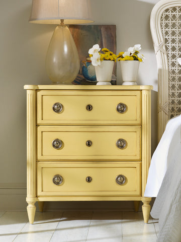 Calais Bedside Chest in Creme Brulee - Retail $2,694.00