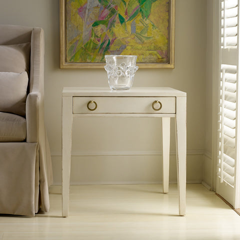 Transitions End Table in Powdered Sugar  - Retail $1,194.00