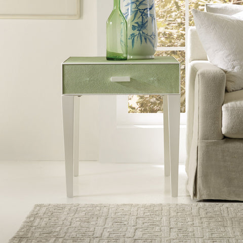 Shagreen End Table in Low Country Green - Retail $1,974.00