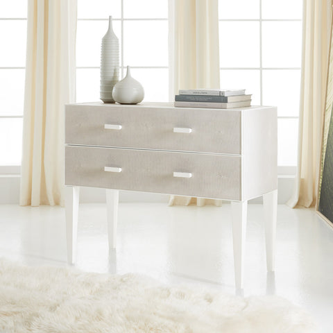 Shagreen Two Drawer Chest in Seafoam Grey - Retail $2,970.00