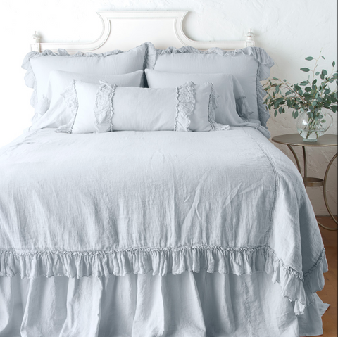 Linen Whisper King Bed Spread in Cloud