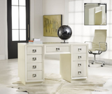 Malibu Loft Mid Century Vanity/Desk in Fresh - Retail $3,286.00
