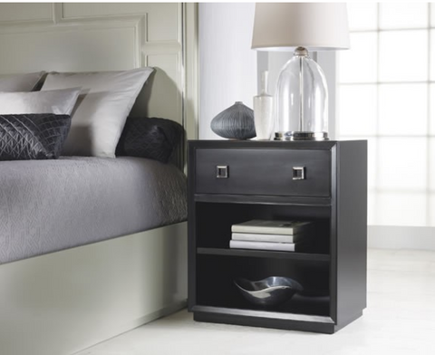 Malibu Loft Nightstand in Black Forest  - Retail $1,511.00
