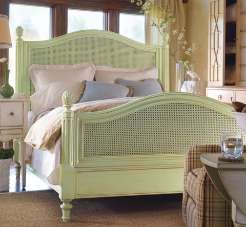 Frenchtown Queen Bed in Vanilla Bean - Retail $6,696.00