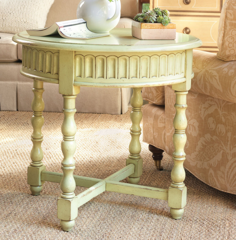 Lake Oconee End Table in Key Lime Pie - Retail $2,040.00
