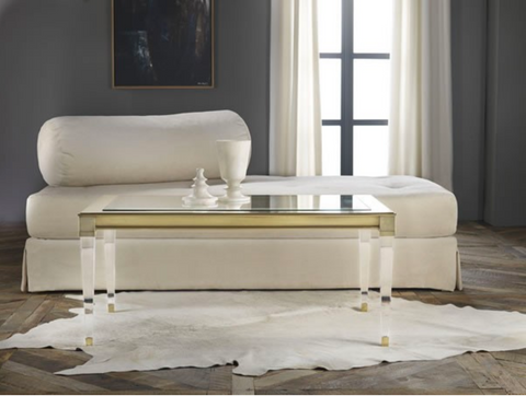 Soho Cocktail Table with Brass Accent - Retail $5,070.00