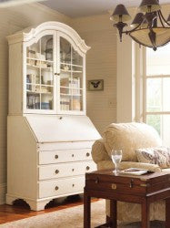 Monterey Bureau Bookcase in Truffle grey /  Retail $9884