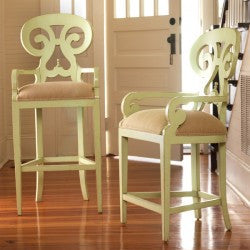Carmel Swivel Bar Stool in Key Lime Pie - Retail $2,544.00