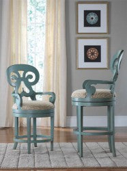 Carmel Swivel Bar Stool in Cotton Candy - Retail $2,544.00