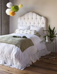 Linen Twin Bed Skirt in Champagne