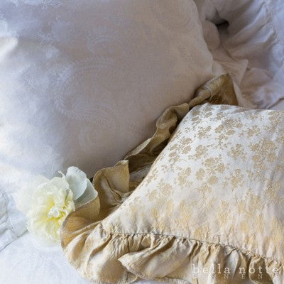 Colette Throw Pillow with Ruffle- Multiple Colors